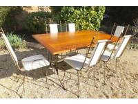 Solid cherry wood dining table and chairs