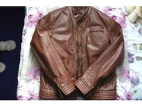Asos Mens faux leather jacket size M