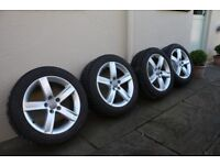 Private sale of Audi winter tyres and alloys. Audi A4/B8 model 2008 to 2015 Dunlop SP WINTER SPORT