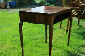 Reproduction mahogany occasional table,