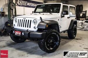 2016 Jeep Wrangler Sport A/C! HARDTOP! LIFTED! UPGRADED TIRES!