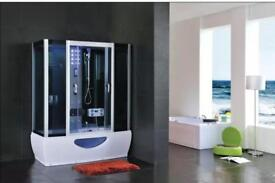Bath replacement whirlpool and steam shower cabin