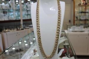 10k Yellow Gold Diamond Cut MIAMI Cuban Link 30 inches 14.5 mm 120.00 gr