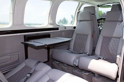 Beechcraft 36 Bonanza, Baron custom leather interior, A36 B55 B58
