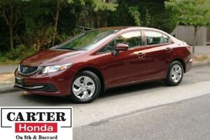 2015 Honda Civic LX + BACKUP CAM + LOW KMS + CERTIFIED!