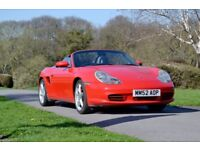 Porsche Boxster S 3.2 FSH, Red, Low mileage, Cruise control, Colour coded roll bar