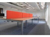 Complete set up of 6 workstations Adept bench desk system back to back