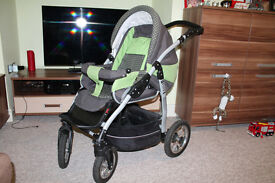 Buggy after my son. Clean, comfortable, inflatable, large and wheels turning
