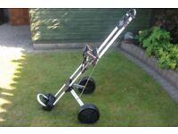 Slazenger golf trolley push pull type metal tube frame