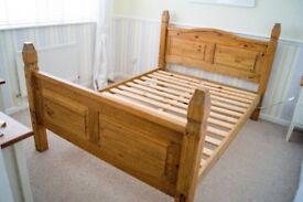 Dark Pine Doble Bed