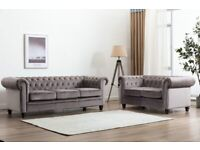 BRAND NEW CHESTERFIELD 3+2 SOFA SET AVAILABLE IN NEXT DAY DELIVERY
