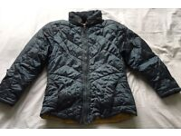 Jet Set Blue Grey Puffa/Puffer Ski Jacket! Size Medium / M! Roll away hood!
