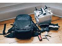 Parrot Bebop 2 FPV Drove with backpack / controller / spare battery