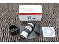 Canon 70 200 f4 lens non is Mint