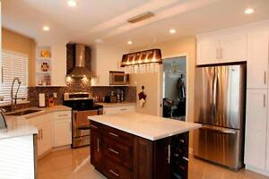 Hardwood Kitchen Cabinets Delivered to you in about one week