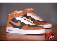 "Customised ""WOODGRAIN: Nike Air Force 1's"