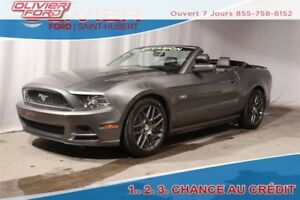 2013 Ford Mustang GT 5.0L CONVERTIBLE AUTO CUIR GREY MAGS