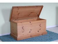 QUALITY SOLID PINE BLANKET BOX DOVETAIL JOINTS WAXED FINISH - UK WIDE DELIVERY