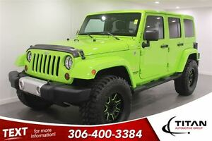 2013 Jeep WRANGLER UNLIMITED Sahara|Gecko Green|35 Tires|After M