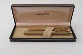 Sheaffer Targa 1009 Barleycorn Vintage Pen Set Made in England