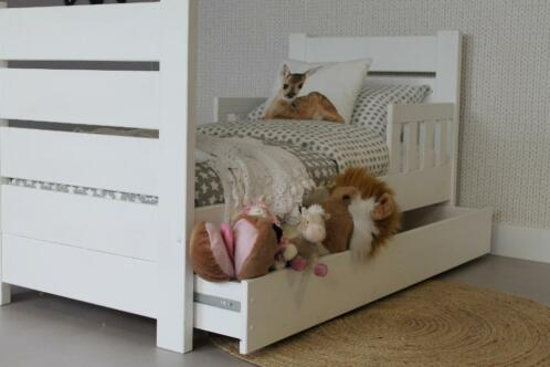 Peuterbed 70x150 Wit.Luxe Peuterbed Charlie Lola 70x150 Wit Kinderbed Lade