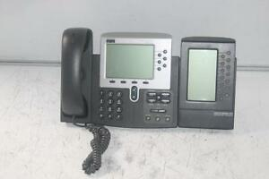 Cisco 7960G Unified VoIP Phone w/ Expansion Module (CP-7914) - LCD Touch Screen - 6-Lines (+14)