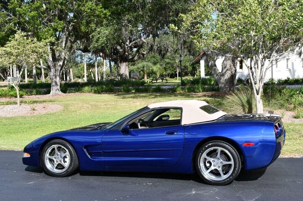 2004 Blue Chevrolet Corvette Convertible  | C5 Corvette Photo 4