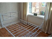 White bed frame great condition £30