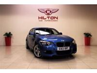 BMW 1 SERIES 2.0 118D M SPORT 5d 141 BHP 1 PREV OWNER FROM NEW (blue) 2013