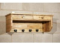 Coat hanger unit with drawers
