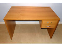 JOHN LEWIS OAK effect Wooden Computer Desk with Drawers - Or Wood Dressing Table