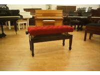 New piano duet bench. Adjustable in black with red top- can post