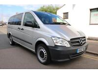 2012 12 Mercedes Benz Vito 113 CDI Traveliner AUTO Blue Efficiency 9 Seater Long Silver LOW MILES