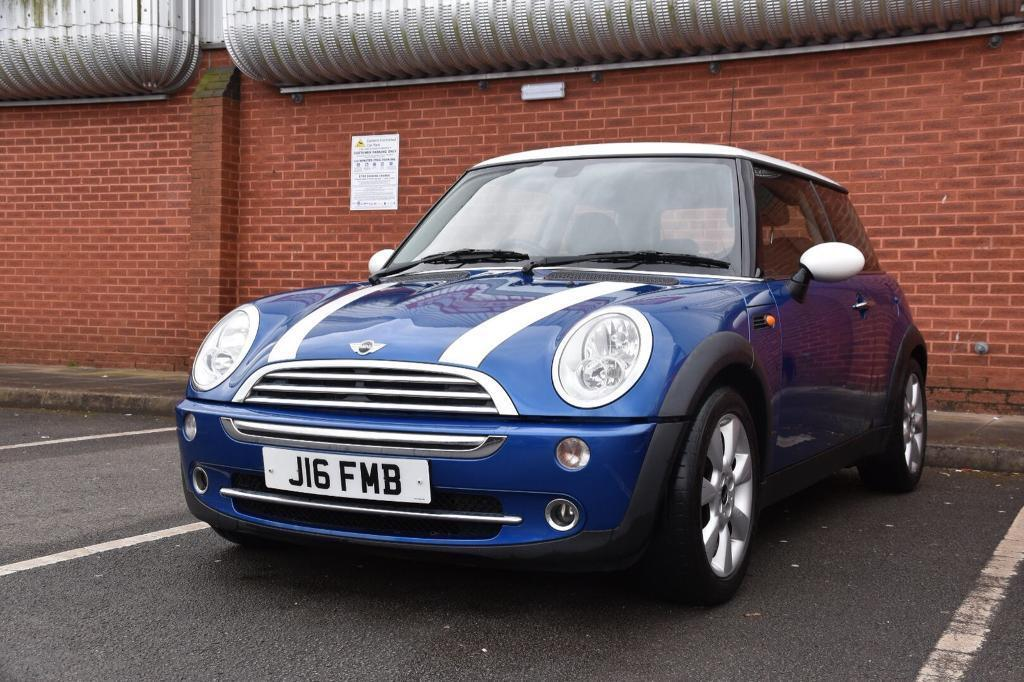 Mini Cooper Blue With White Stripes