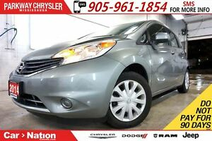 2014 Nissan Versa Note SV| CONVENIENCE PKG| BLUETOOTH| REAR CAM
