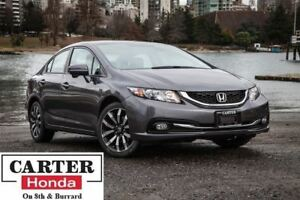 2015 Honda Civic Touring + NAVI + LEATHER + LOW KMS + CERTIFIED!