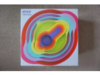 Brand New in Sealed Box Anzo 8 Piece / Pcs Multi-colour Measuring & Mixing Bowls Set