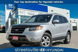 2009 Hyundai Santa Fe GLS 3.3L V6 , LEATHER, SUNROOF, GREAT BUY!