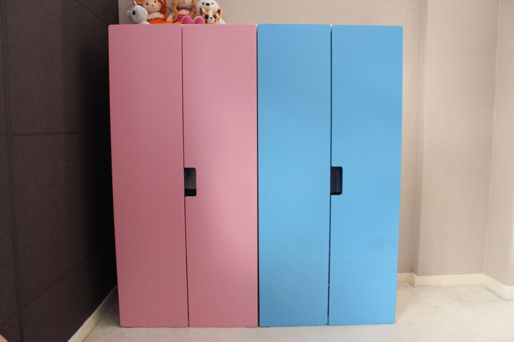 ikea stuva kids wardrobe pink and blue in farnborough hampshire gumtree. Black Bedroom Furniture Sets. Home Design Ideas