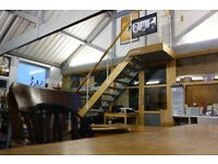 Huge desk space with extras available in fun, quirky, bright warehouse building in Holloway N19.