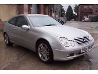 2004 MERCEDES BENZ C320 SE 218 BHP AUTO, COUPE, ONLY 93K, SERVICE HISTORY, FULL MOT, NICE CONDITION!