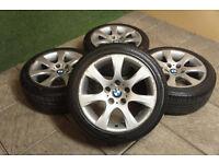 """Genuine BMW 3 Series 17"""" Alloy wheels & Tyres E90 E91 E92 E93 E46 1 Style 185 Cheap"""