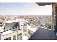BRAND NEW 2 bedrooms, 2 bathrooms, wood floor, private balcony 24hour concierge near transport links