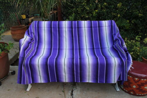 Purple Sarape Serape Mexican Blanket Saltillo Southwestern 5