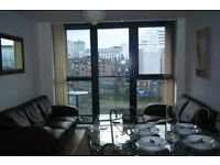 2 Bedroom City Centre Apartment, 2 mins walk from Deansgate. Balcony looking towards city centre