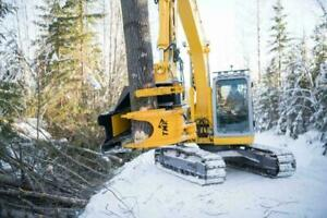 Safely cut, grapple, and move trees with the TMK Tree Shear.