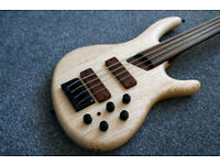 Custom Cort B4 FL Fretless Bass Sound Samples
