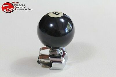 8 Ball Brodie Strap Clamp On Suicide Steering Wheel Spinner Knob Truck Hot Rod