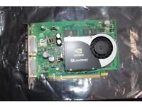 NVIDIA QUADRO FX570 Dual DVI GPU 128Bit PCIe x16 Workstation Video Card