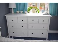 Ikea Hemnes Chest of 8 drawers - colour white stain